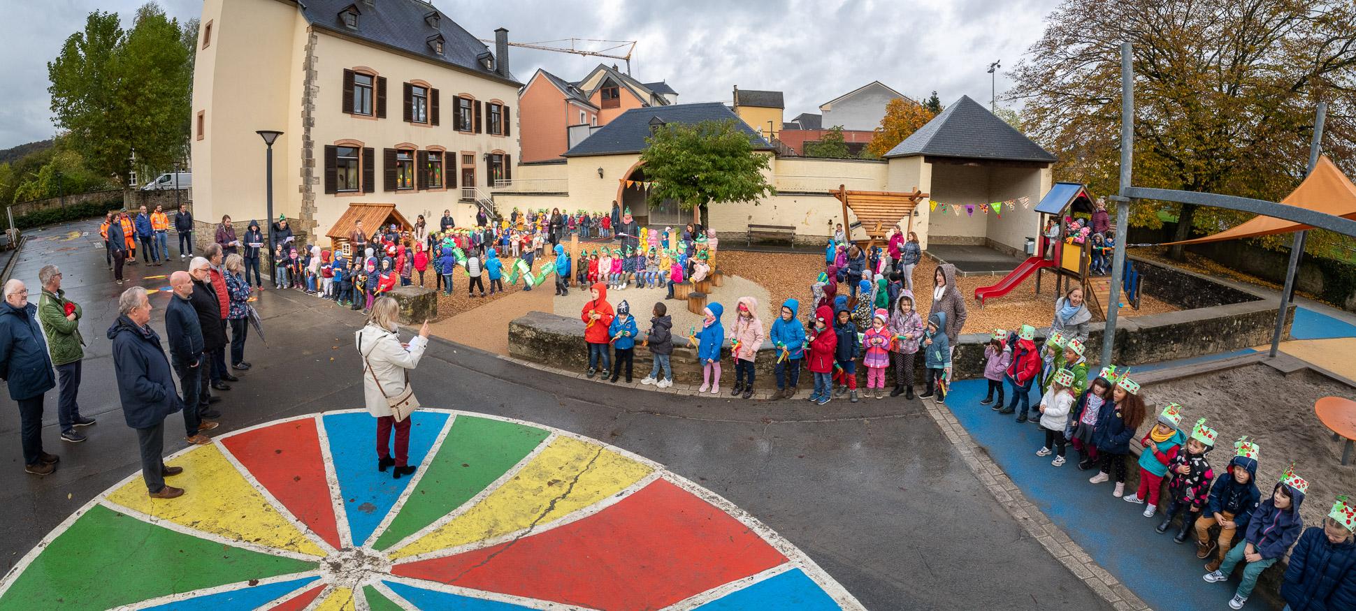 Inauguration de la nouvelle aire de jeux Bâtiment Jean Majerus 18.10.2019